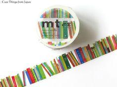 NEW mt Book Washi Tape, Masking Tape, Bookshelf, Book Washi [MTEX1P112]