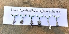 Gifts for Gardeners - Stocking Fillers - Wine Glass Charms - Gifts for Her £9.99 Wine Glass Charms, Stocking Fillers, New Home Gifts, Birthday Gifts For Her, Bead Crafts, Teacher Gifts, Swarovski Crystals, Christmas Crafts, Great Gifts