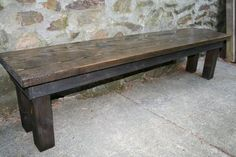 rustic wooden bench - Google Search