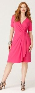 Pink wrap dresses plus size