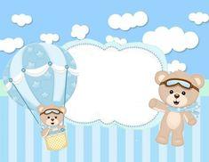 Feliz Cumpleaños Felipe Te esperamos Teddy Bear Baby Shower, Baby Shower Niño, Baby Shower Decorations For Boys, Baby Decor, Baby Birthday Cakes, Happy Birthday, Baby Boy Scrapbook, Baby Clip Art, Baby Shower Invitaciones