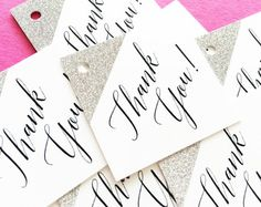 20 Light Blue Personalized Tags with Silver by PaperTrailbyLauraB