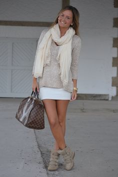 I dont like the sneaker wedge but in digging this outfit  Wedge Sneakers Style #wedgesneakers #outfit #fashion