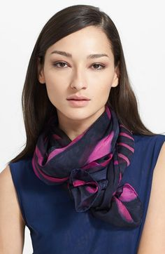 ESCADA Oblong Silk Scarf available at #Nordstrom