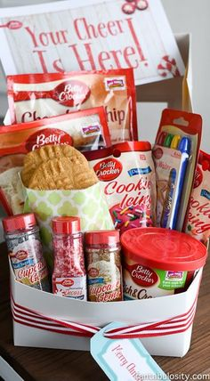 Cookie Gift Baskets, Themed Gift Baskets, Raffle Baskets, Cookie Gifts, Food Gifts, Fundraiser Baskets, Basket Gift, Christmas Gift Baskets, Diy Christmas Gifts