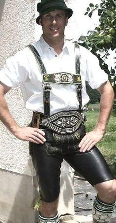 German Lederhosen, Leather Shorts, Gentleman, Berlin, Germany, Mens Fashion, Costumes, Night, Pants