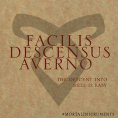 #motto#sestup je snadný#Shadowhunters academy of Idris