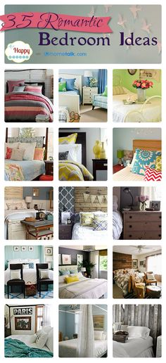 35 Romantic {Bedroom} Ideas | curated by 'The Happy Housie' blog!