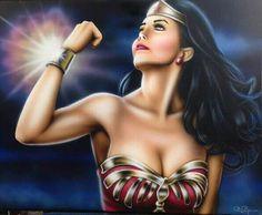 Lynda Carter as Wonder Woman by Steve Baier PinUp Artist