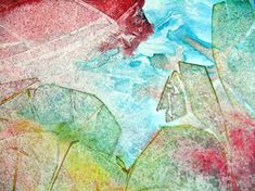 Abstract Watercolour on Yupo Paper