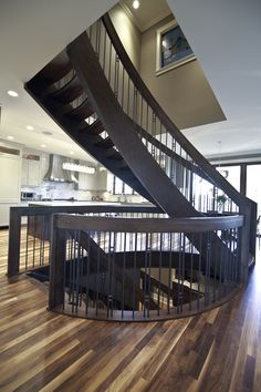 A beautiful staircase added by the Remodelers in Calgary