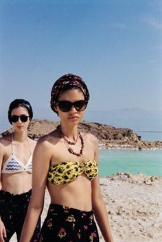 Pretty bikinis and turbans.