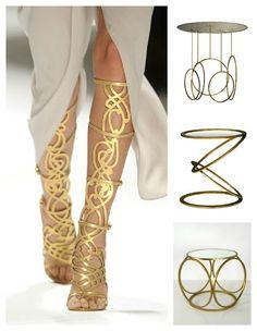 Fashion & Decor Pairings - Translating Trends - Gold Links
