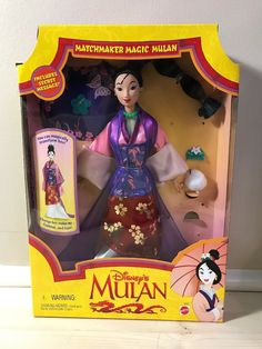 Mulan Doll, Dolly Dress, Vintage Disney, Nct, Dolls, Puppet, Doll, Puppets, Baby Dolls