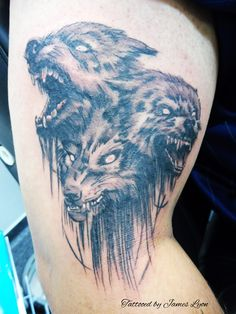 hell hound tattoo design by lord ucifer on deviantart hellhound tattoo drawings pinterest. Black Bedroom Furniture Sets. Home Design Ideas