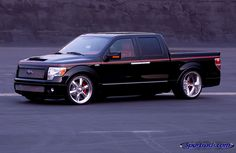 concept ford f150 with suicide rear doors and a 10 inch lip on the rear wheels
