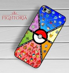 Pokemon Elements Collage Pokeball -end for iPhone 6S case, iPhone 5s case, iPhone 6 case, iPhone 4S, Samsung S6 Edge