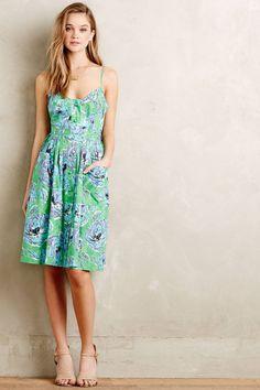 Pleated Peony Dress by Plenty by Tracy Reese