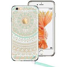 iPhone 6 Plus Case, ESR Totem Series Hybrid Case TPU Bumper +Hard PC Back Cover Protective Case For 5.5 inches iPhone 6s Plus (2015) /iPhone 6 Plus (2014) (Mint Mandala)