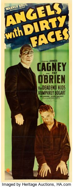 "Movie Posters:Crime, Angels with Dirty Faces (Warner Brothers, 1938). Linen FinishInsert (14"" X 36"").. ..."