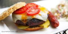 Gourmet Girl Cooks: It's National Hamburger Day - Served on Low Carb Sesame Seed Buns