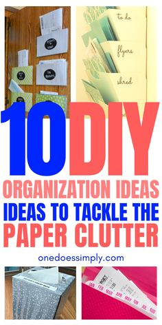 Looking for some creative home organizing hacks? Check out these creative paper clutter organizing ideas! These ideas are super cool!