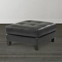 Storage Ottoman, Wood Leg Ottomans - 32 x 32. 30 leathers to choose from