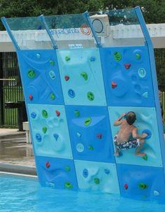 Escalade à la piscine