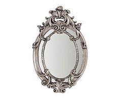 Miroir RIA résine et verre, argenté - 35*56