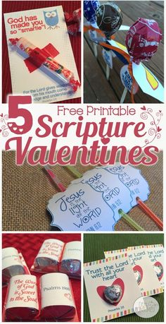 Not Consumed has FREE Valentines Scripture Card Printables. Print these cute cards and add your own candy to make them fun.