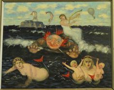 Mermaids, 1895,     Torsten Wasastjerna Shut Up, In This World, Mythology, Fairy Tales, Illustration Art, Creatures, Fine Art, Gypsy Soul, Mermaids