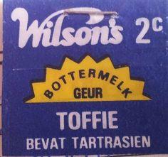 Wilsons Toffies in Afrikaans