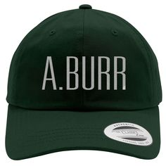 A. Burr Embroidered Cotton Twill Hat