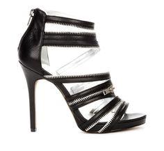 Black Zipper Heels.