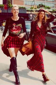 Have you ever seen tartan dresses look so cool? #tartan #fashion #spartoouk