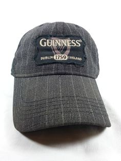 Guinness Beer Hat Cap Gray 1759 Stitched Dublin Ireland Adjustable Strap   Guinness  BaseballCap   f885b7dbb4f1