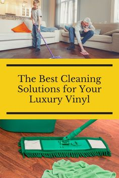 Learn about the best cleaning solutions for your luxury vinyl here. Flooring 101, Luxury Vinyl Flooring, Cleaning Solutions, Good Things, Learning, Studying, Teaching, Onderwijs