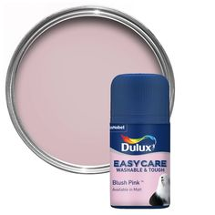 This emulsion paint is suitable for and covers up to 13 m² per litre on average. Dulux Paint Colours Pink, Blush Pink Paint, Pink Bedroom Walls, Pink Walls, Master Bedroom, Painted Front Doors, Playroom Design, Macaroons, Aloe