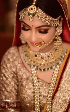 Bride makeup looks that rocked the 2018 Indian wedding season, . - Bride makeup looks that rocked the 2018 Indian wedding season - Indian Wedding Bride, Indian Wedding Makeup, Indian Wedding Hairstyles, Indian Makeup, Hair Wedding, Wedding Blog, Bengali Bridal Makeup, Bridal Makeup Images, Best Bridal Makeup