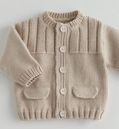 39 most showy towel edge needlework models - Babykleidung Baby Knitting Patterns, Baby Sweater Patterns, Baby Cardigan Knitting Pattern, Baby Boy Knitting, Knit Baby Sweaters, Knitted Baby Clothes, Boys Sweaters, Knitting For Kids, Knitting Designs