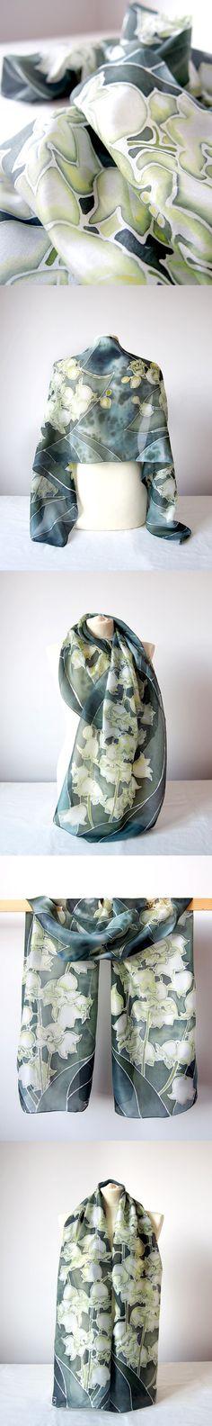 Silk Square Scarf - Calla Lillies Mini by VIDA VIDA xObw2lA