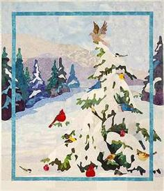 Winters Song Applique Quilt Pattern by Bee Creative