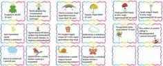 A figyelem fejlesztése - mozgáskártyákkal