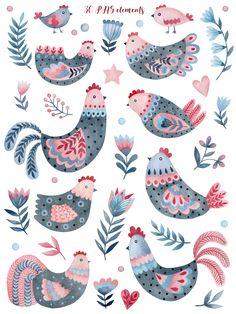 Scandi Art, Scandinavian Folk Art, Christmas Gnome, Blog Design, Muted Colors, Art Boards, Art Inspo, Clip Art, Birds