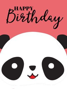 Send Free Cute Panda Happy Birthday Card for Kids to Loved Ones on Birthday & Greeting Cards by Davia.