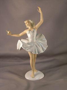 Vintage Schaubach Kunst Germany Porcelain Blonde Ballerina Figurine | eBay