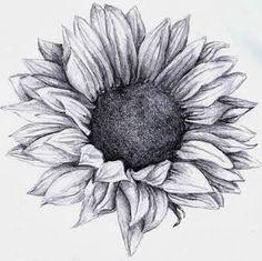 Tumblr Sunflowers Drawing <b>sunflower</b> tattoos on pinterest  flower tattoos, thigh <b></b>