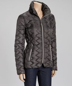 Another great find on #zulily! Slate Zigzag Quilted Jacket by Betsey Johnson #zulilyfinds
