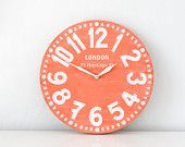 I love this clock. It would be perfect in the girls room! #wallcandy