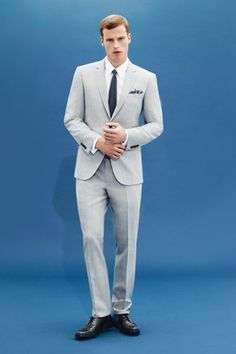 Aquascutum's typically understated spring suiting.